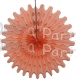 Classic and Vintage Peach 18 Inch Tissue Paper Fan (12 Pieces)