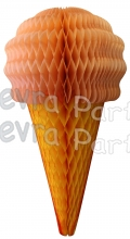 Peach 20 Inch Tissue Paper Ice Cream Cones (6 pieces)