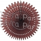 21 Inch Tissue Fan Brown (12 pcs)
