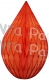 5 Inch Orange Rain Drop Ornament Decoration (12 pcs)