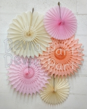 Small Tissue Paper Fan Collection - ALL COLORS - 12 KITS