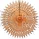 21 Inch Tissue Fan Peach (12 pcs)