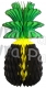 Jamaican Honeycomb Pineapple Decoration, 20 Inch (6-pack)