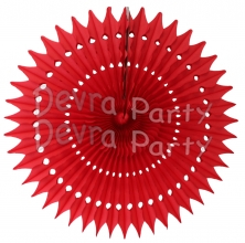 21 Inch Tissue Fan Red (12 pcs)