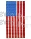 Large US FLAG Honeycomb Tissue Paper (6 pcs)