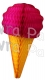 Cerise 20 Inch Tissue Paper Ice Cream Cones (6 pieces)