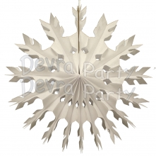 15 Inch White Tissue Paper Snowflake Decoration (12 pcs)