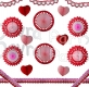 Valentine Day Decoration Kit, Large (24 pieces)