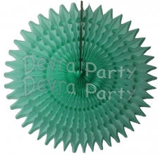 21 Inch Tissue Fan Mint Green (12 pcs)