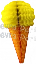 Yellow 20 Inch Tissue Paper Ice Cream Cones (6 pieces)