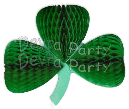 Shamrock Honeycomb Tissue Paper Decoration (6 pcs)