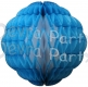 14 Inch Puff Ball Turquoise and White (12 pcs)