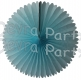 13 Inch Fan Decorations Light Blue (12 PCS)