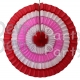 16 Inch Striped Fan Valentine's Red, White, and Pink (12 pcs)
