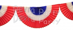 10 Foot Honeycomb Bunting Fan Garland Red/White/Blue (12 pcs)