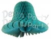 Teal Green Honeycomb Bells (12 Pieces)