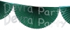 Dark Green 10 Foot Bunting Fan Garland (12 pcs)