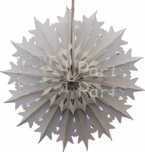 19 Inch Tissue Paper Snowflake Gray (12 Pieces)