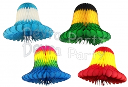 11 Inch Tissue Paper Bells Multi Colors (12 pcs)