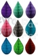 5 Inch Mini Rain Drop Ornament Decoration (12 pcs)