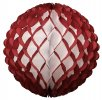 14 Inch Puff Ball Maroon (Dyed Burgundy) and White (12 pcs)