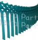 Teal Streamer Garland Decoration (12 pcs)