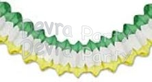 Arch Garland Green/White/Yellow (12 pcs)