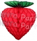 Honeycomb Strawberry Decoration, Classic Red 8 inch (12 pcs)