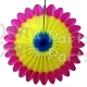 Hanging Fanburst Decoration Multi Color (12 pcs)