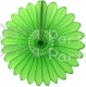 Lime Green Fanburst Decoration (12 pcs)