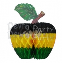 Jamaican Honeycomb Paper Apple Decoration, 14 inch (12 pcs)