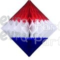 12 Inch Patriotic Hanging Diamond Decoration (12 pcs)