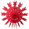 15 Inch Red Tissue Paper Snowflake Decoration (12 pcs)