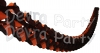 12 Foot Tissue Paper Oval Garland Halloween (12 pcs)