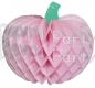 Tissue Paper Pumpkin Decoration, 10 Inch, Light Pink (12 pcs)