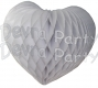 Heart Decoration 18 Inch White (12 pcs)