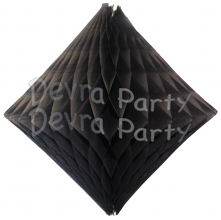Black Hanging Diamond Decoration (12 pcs)