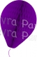 11 Inch Purple Paper Balloon Decoration (12 pieces)