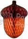 14 Inch Honeycomb Acorn Decoration (12 pcs)
