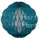 14 Inch Puff Ball Teal and White (12 pcs)