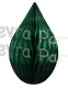 5 Inch Dark Green Rain Drop Ornament Decoration (12 pcs)