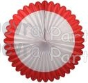 27 Inch Deluxe Fan Red White (12 pcs)
