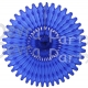26 Inch Tissue Fan Dark Blue (12 pcs)