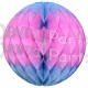 Blue/Pink Honeycomb Ball Decorations (12 pcs)