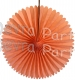 13 Inch Fan Decorations Peach - Classic Pastel (12 PCS)
