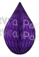 5 Inch Purple Rain Drop Ornament Decoration (12 pcs)