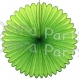 27 Inch Deluxe Fan Lime Green (12 pcs)