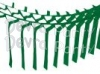 Dark Green Streamer Garland Decoration (12 pcs)