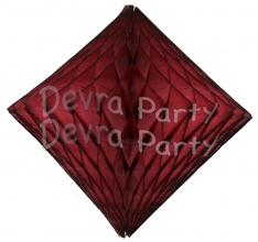 Maroon (Dyed Burgundy) Hanging Diamond Decoration (12 pcs)