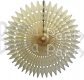 21 Inch Tissue Fan Classic and Vintage Ivory (12 pcs)
